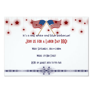 Patriotic US Flags and Stars Labor Day Card