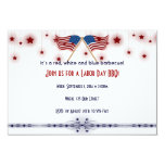 Patriotic US Flags and Stars Labor Day 3.5x5 Paper Invitation Card