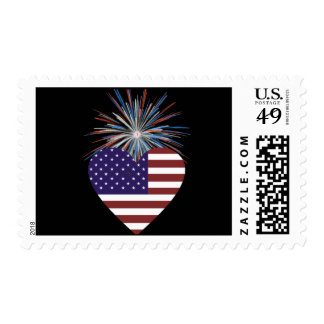 Patriotic US Postage Stamp