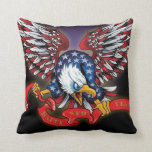 patriotic USA American Eagle Throw Pillow