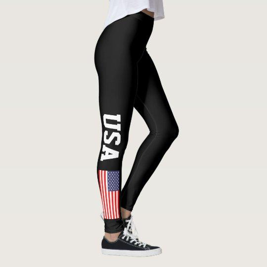 4e7782828cc9 Patriotic USA American flag custom color leggings