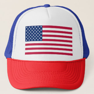 Patriotic USA American Flag Red Blue White Hat Cap