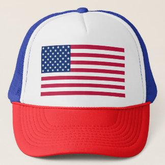Patriotic USA American Flag Red Blue White Hat Cap