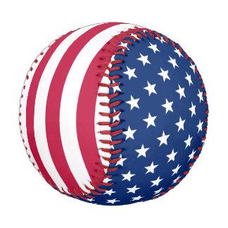 Patriotic USA American Flag Stars Stripes Baseball