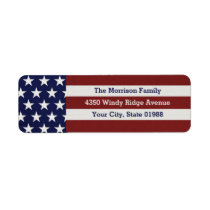 Patriotic USA American Flag Stars & Stripes Label