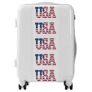 Patriotic USA American Flag Suitcase Luggage
