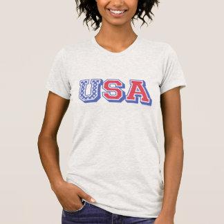 Patriotic USA American Flag Varsity - Faded Colors T-Shirt