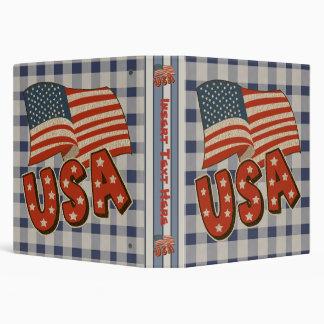 Patriotic USA Avery Binder