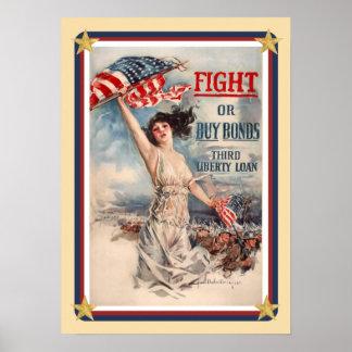 Patriotic USA Bonds Poster
