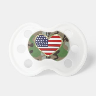 Patriotic USA Camo Pacifiers