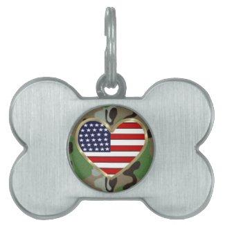 Patriotic USA Camo Pet Tag