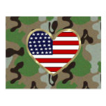 Patriotic USA Camo Postcard