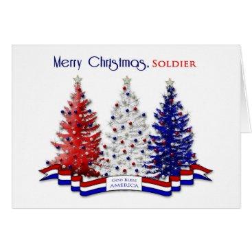 PATRIOTIC USA CHRISTMAS , Military, SOLDIER - ARMY