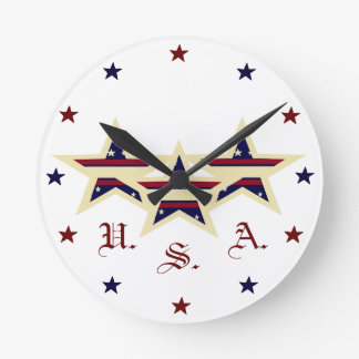 PATRIOTIC USA CLOCK