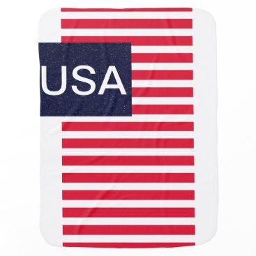 USA Themed Patriotic USA CricketDiane American Flag Baby Stroller Blanket