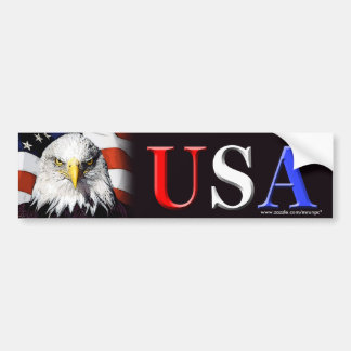 "Patriotic ""USA Eagle"" bumper sticker"