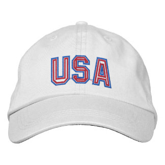 Patriotic USA Embroidered Baseball Cap