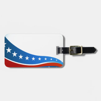 Patriotic USA Flag Background Luggage Tag