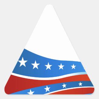 Patriotic USA Flag Background Triangle Sticker