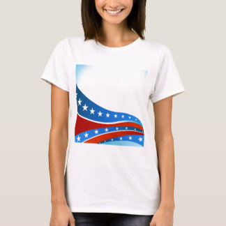 Patriotic USA Flag Background T-Shirt
