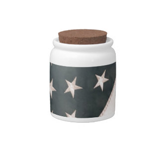 Patriotic USA Flag Candy Jars