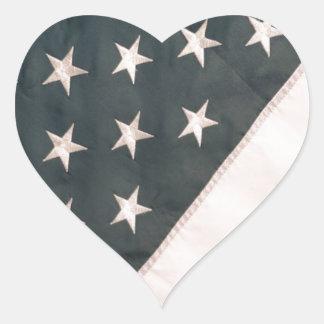 Patriotic USA Flag Heart Sticker