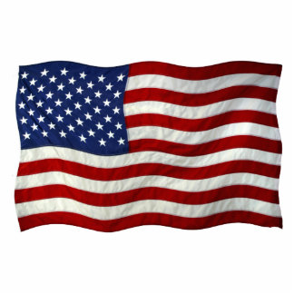 Patriotic USA Flag Magnet Sculpted Photo Cutout
