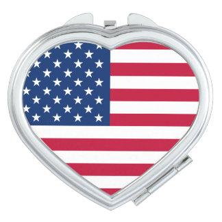 Patriotic USA Flag Mirror For Makeup