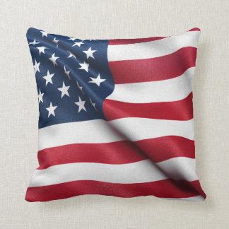Patriotic USA Flag Throw Pillow