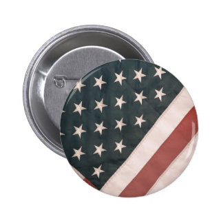 Patriotic USA Flag Pinback Button
