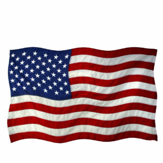 Patriotic USA Flag Sculpted Gift Item Statuette