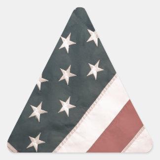 Patriotic USA Flag Triangle Sticker