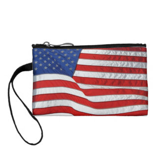 Patriotic USA Flag, United States Coin Wallet