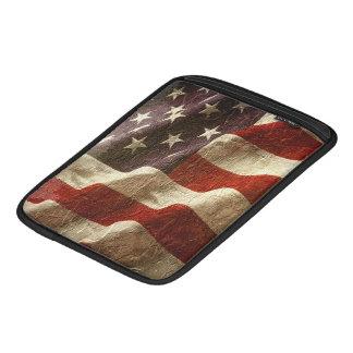 Patriotic USA Flag Waving in Stone iPad Sleeves