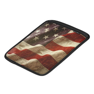 Patriotic USA Flag Waving in Stone Sleeve For iPads