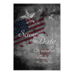 Patriotic USA Flag with Stars Save the Date Card