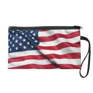 Patriotic USA Flag Wristlet Clutches