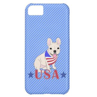 Patriotic USA French Bulldog iPhone 5C Cover