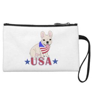 Patriotic USA French Bulldog Wristlet