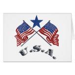 Patriotic USA Greeting Card