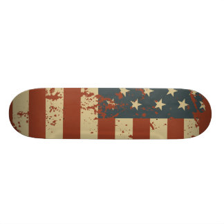 Patriotic USA  Grunge Flag Skateboard
