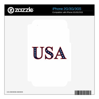 Patriotic USA iPhone 2G/3G/3GS Skin iPhone 3G Decals