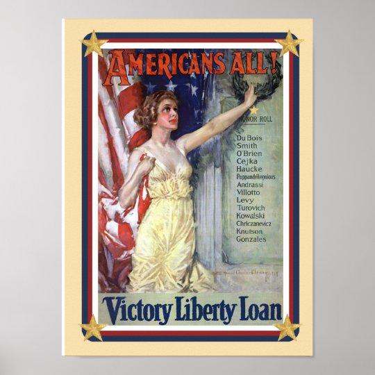 Patriotic USA - Liberty Loan Poster