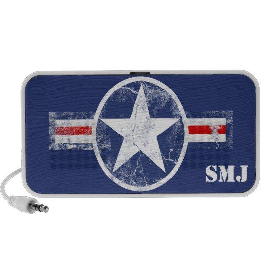 Patriotic USA Military Star Monogram mp3 Speaker