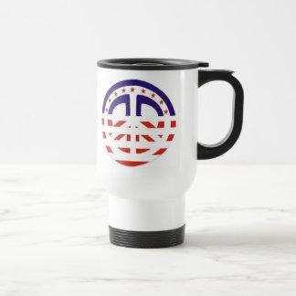 Patriotic USA Peace Sign Mug
