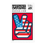 Patriotic USA Postage Stamps