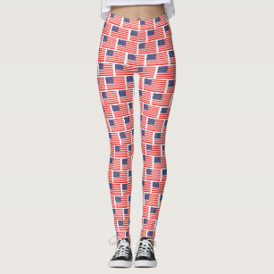 Patriotic USA pride American US flag pattern Leggings