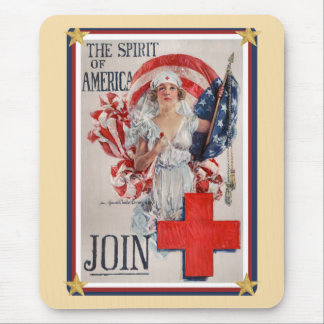 Patriotic USA - Red Cross Join Mouse Pad