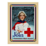 Patriotic USA - Red Cross Join Print
