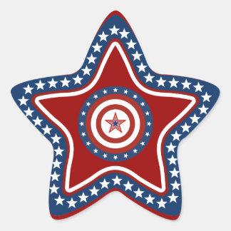Patriotic USA Star Stickers